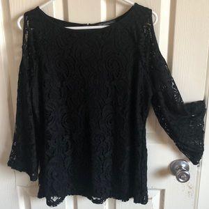Black lace blouse / tunic